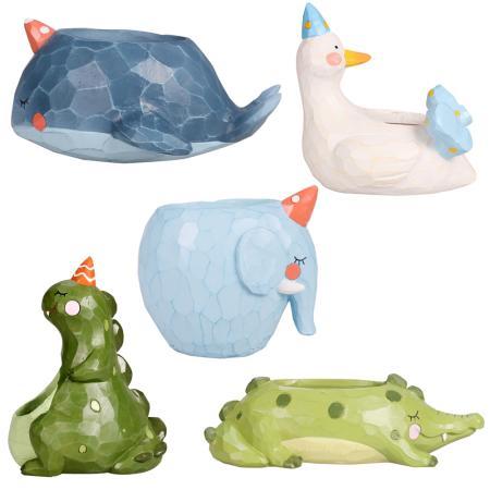 Flowerpot - different animal motifs