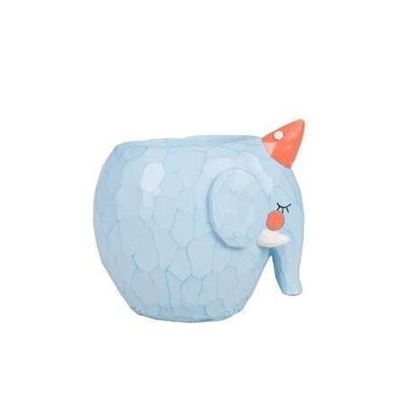 Blumentopf - verschiedenen Tiermotive Elefant