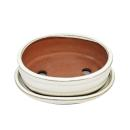 Bonsai cup and saucer Gr. 2 - light beige - oval - model...