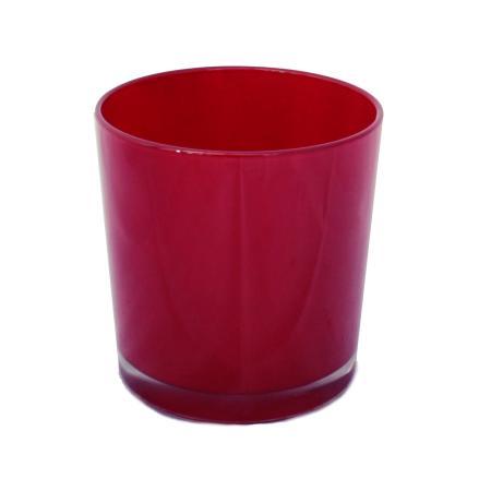 Overpot-Flowerpot glass conan 13cm different colors red