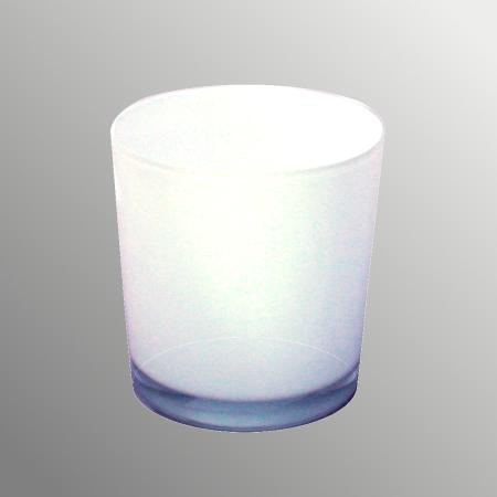 Overpot-Flowerpot glass conan 13cm different colors white