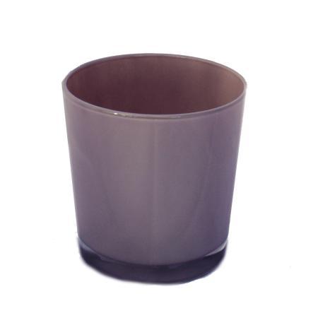 Overpot-Flowerpot glass conan 13cm different colors light brown