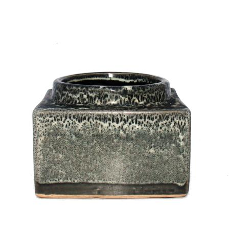 """Square planter """"Maracaibo"""" for 8,5cm and 9cm pots - various sizes Colours black-and-white"""
