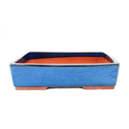 Bonsai pot XL - rectangular G30 - blue - L36.5cm x W28cm x H9.5cm