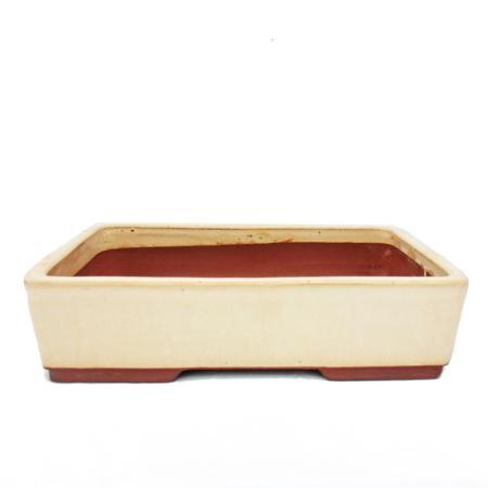 Bonsai-Schale XL - rechteckig G30 - hellbeige - L36,5cm x B28cm x H9,5cm