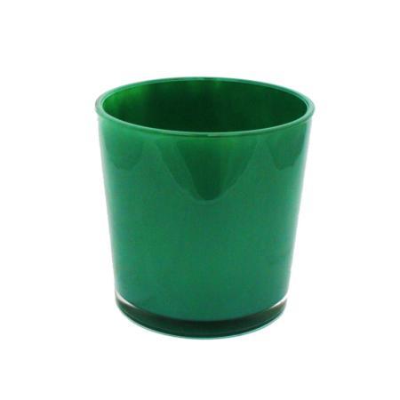 Flowerpot glass conan 19cm - green