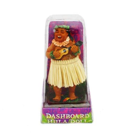 Hawaii miniature Dashboard Hula Doll - Bradda Ed mit Ukulele