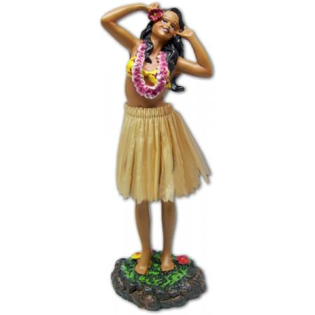 Hawaii miniature Dashboard Hula Doll - Girl 2 Hands on Head groß