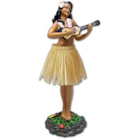 Hawaii miniature Dashboard Hula Doll - Girl groß mit Ukulele