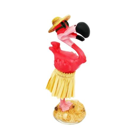 Hawaii miniature Dashboard Hula Doll - Flamingo