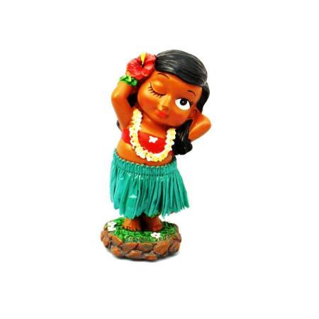 Hawaii miniature Dashboard Hula Doll - Keiki Posing