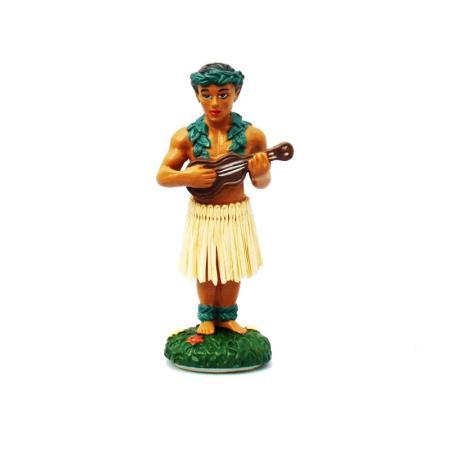 Hawaii miniature Dashboard Hula Doll - Hula Boy mit Ukulele