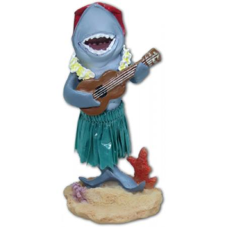Hawaii miniature Dashboard Hula Doll - Shark with ukulele